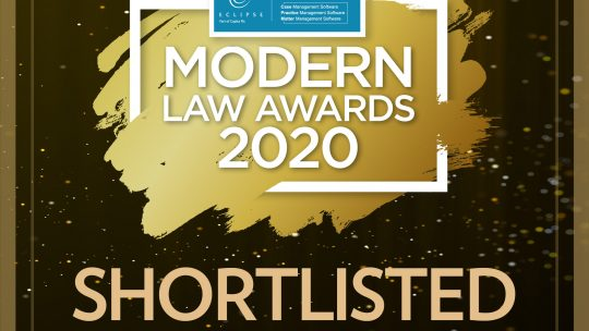 Legal Firm Shortlisted
